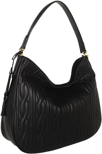 LAUREN Ralph Lauren - Banbury Quilted Hobo (Black) - Bags and Luggage