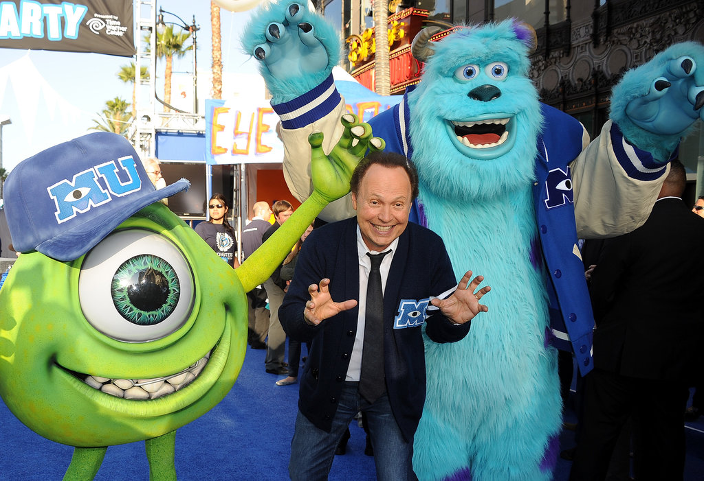 Billy crystal hammed it up for the cameras at the premiere of Disney Pixar's Monsters University in Hollywood on June 18.