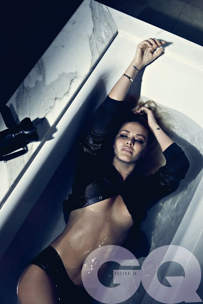 Lara Bingle's sexy shoot in GQ's August/September 2012 issue, shot by Beau Grealy.