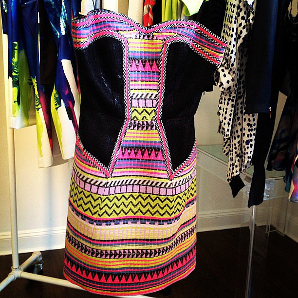 Bright colors and patterns, courtesy of Milly.
