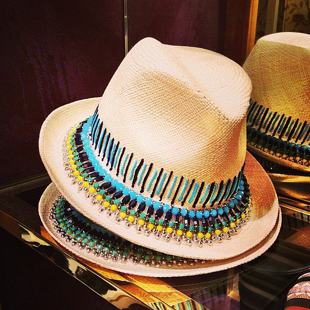 Tory Burch delivered the perfect Summer beach hat.