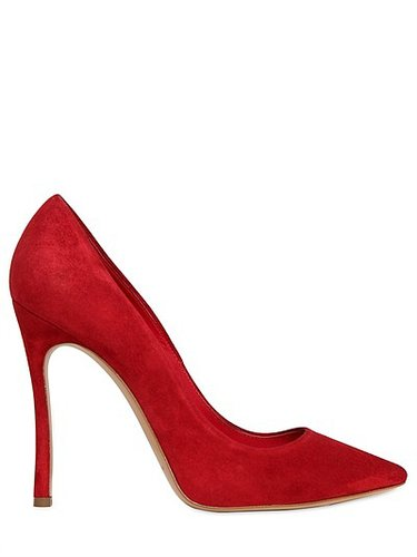 100mm Pointed Suede Pumps