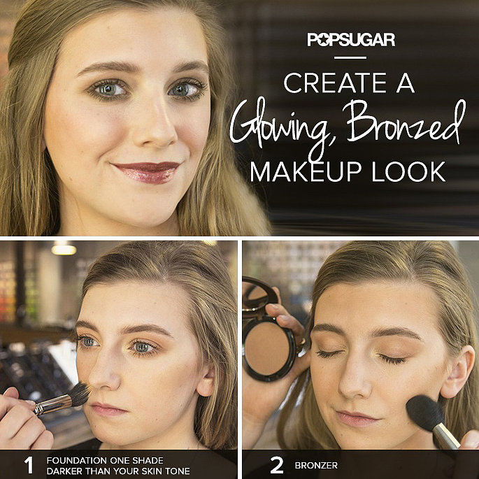 This bronzed makeup tutorial was the top repinned post this week. You'll never look orange again!
