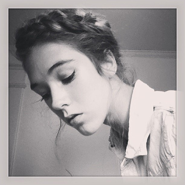 A cat eye and crown braid make for an amazing pair. Source: Instagram user andthentherewaspaint