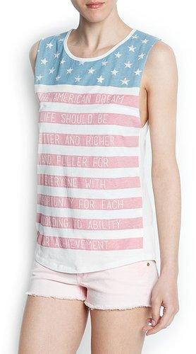 """""""USA"""" printed t-shirt"""