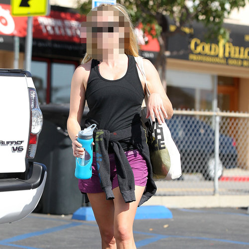 Actress Wearing Purple Shorts to Gym