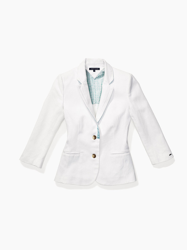 Update your weekday wardrobe with a crisp white blazer ($198) — or channel Tommy and throw this on over your bikini before heading to the snack bar.