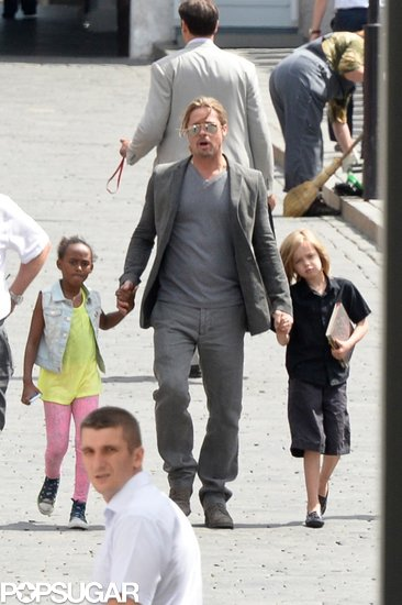 Brad Pitt brought Shiloh and Zahara along for sightseeing in Russia.
