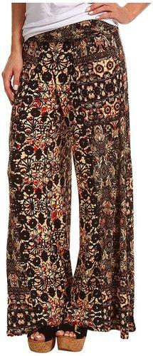 Free People - Knit Wide Leg Pant (Orange Combo) - Apparel