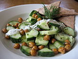 Roasted Chickpeas and Cucumber Salad