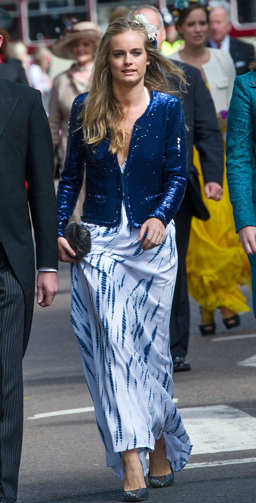 Cressida Bonas attended the wedding of Lady Melissa Percy and Thomas van Straubenzee in Northumberland.