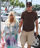 Jessica Simpson Shows Off Her Bump For Lunch With Eric