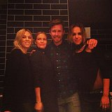 Cara Landsman, Lara Bingle, Max May and Pip Edwards posed for a happy-snap. Source: Instagram user misscara