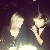 Lara stared down her good friend Lauren Slater at the dinner table. Source: Instagram user mslbingle