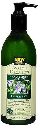 Avalon Organics Hand & Body Lotion Rosemary
