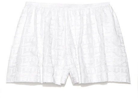 Preorder Thakoon Embroidered Poplin Full Shorts