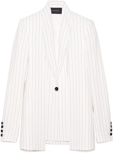 Preorder Thakoon Striped Suiting Button-Front Blazer
