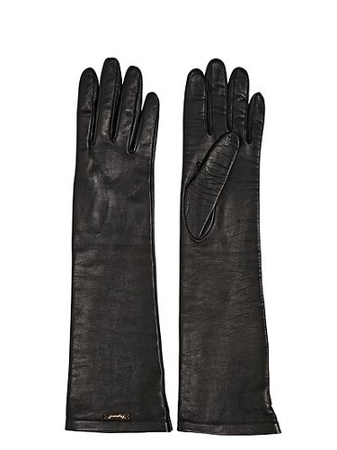 Nappa Leather Long Gloves
