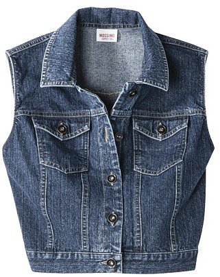 images of Images Mossimo Supply Juniors Cropped Denim Vest Assorted