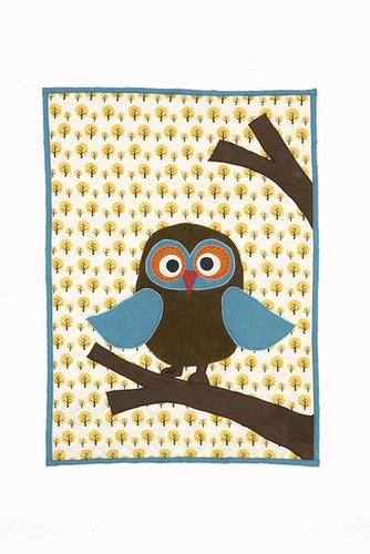 Ferm Living - Owl Quilted Blanket