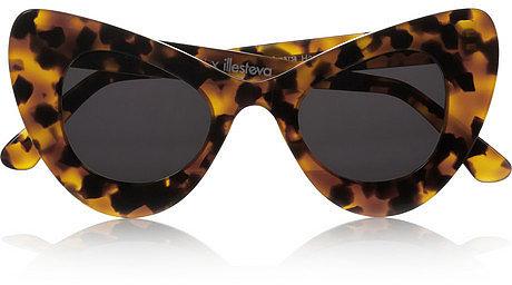 Illesteva + Zac Posen cat eye tortoiseshell acetate sunglasses