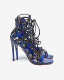 As if blue snakeskin wasn't statement-making enough, the super skinny laces on this Aquazzura pair ($595) really grab the eye.