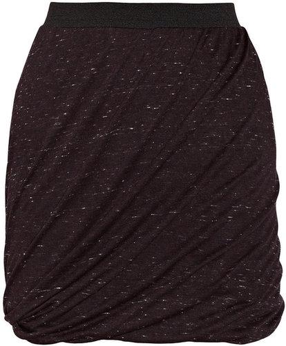 ENZA COSTA Twisted jersey mini skirt