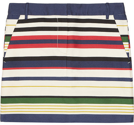 J.Crew Striped cotton-blend mini skirt