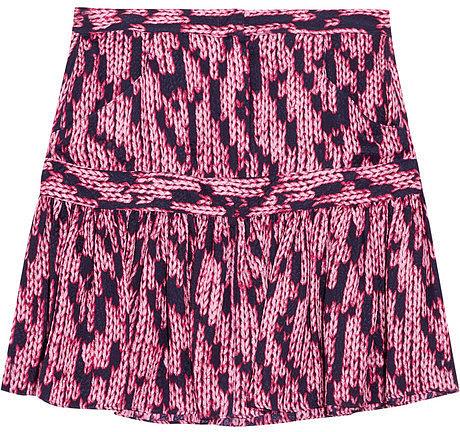 See by Chloé Printed silk-jacquard mini skirt