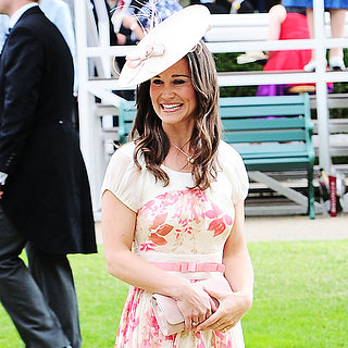 Pippa Middleton Wearing Floral Dress at Royal Ascot