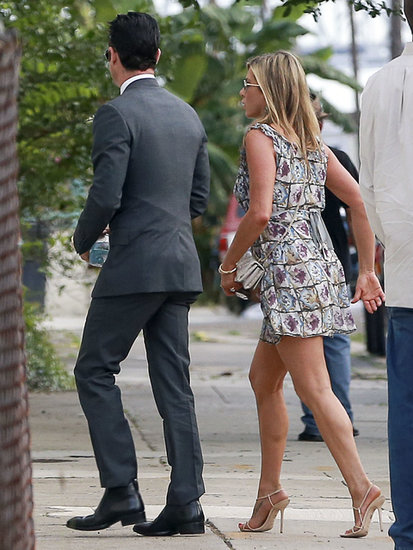 Jennifer Aniston had no problem rewearing her printed Prada dress at Lake Bell's wedding in New Orleans in June. If you, too, have found a dress you love, don't be afraid to rewear it at multiple weddings.