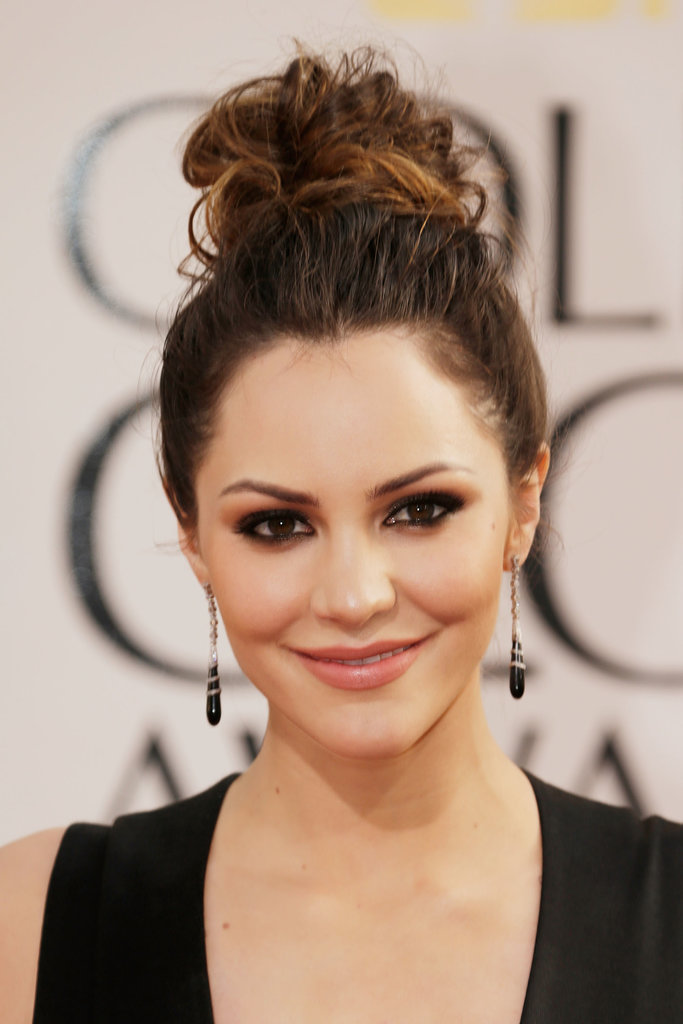 A topknot is one style that also lets ombré highlights shine. Katharine McPhee rocked a two-toned topknot to the Golden Globes.