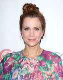 Kristen Wiig swept her hair up into a precarious topknot that will keep your hair colour safe from chlorine when you take a dip this Summer.
