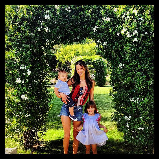 Alessandra Ambrosio posed with her children, Anja and Noah Mazur, during a family road trip. Source: Instagram user alessandraambrosio