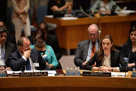 Angelina Jolie shared stories of rape survivors from around the world.