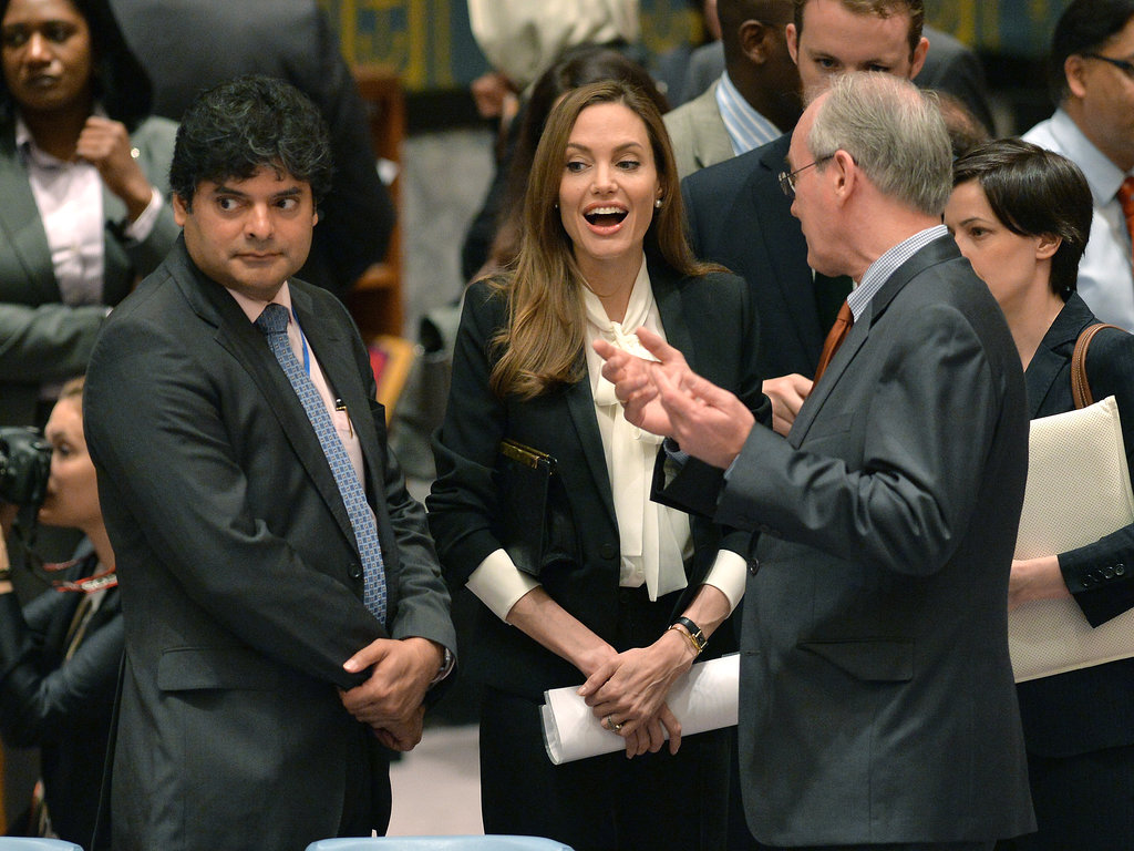 Angelina Jolie met with the UN Security Council on Monday.