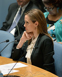 Angelina Jolie talked about the issue of war-zone rape.