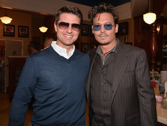 Johnny Depp linked up with Tom Cruise to honor their producer pal Jerry Bruckheimer during his Hollywood Walk of Fame star ceremony in Hollywood.
