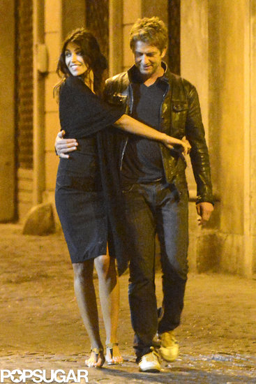 Gerard Butler and Madalina Ghenea strolled through Rome.