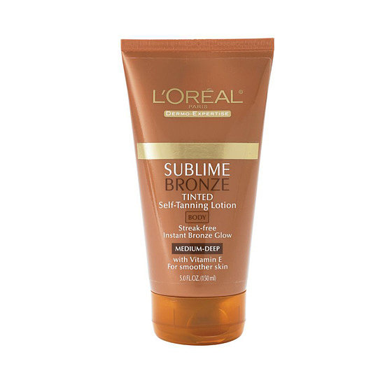 L'Oréal Sublime Bronze Tinted Self-Tanning Lotion ($10) is tinted to impart instant color, but also boasts self-tanning ingredients for a rich tan that develops in a few hours.