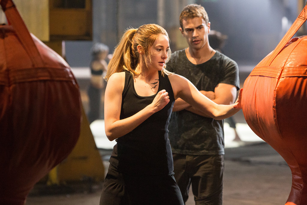 Tris works on honing her Dauntless fight skills.