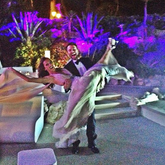 Alessandra Ambrosio goofed off with her good friend Matheus Mazzafera at the amfAR Gala in May.  Source: Instagram user alessandraambrosio