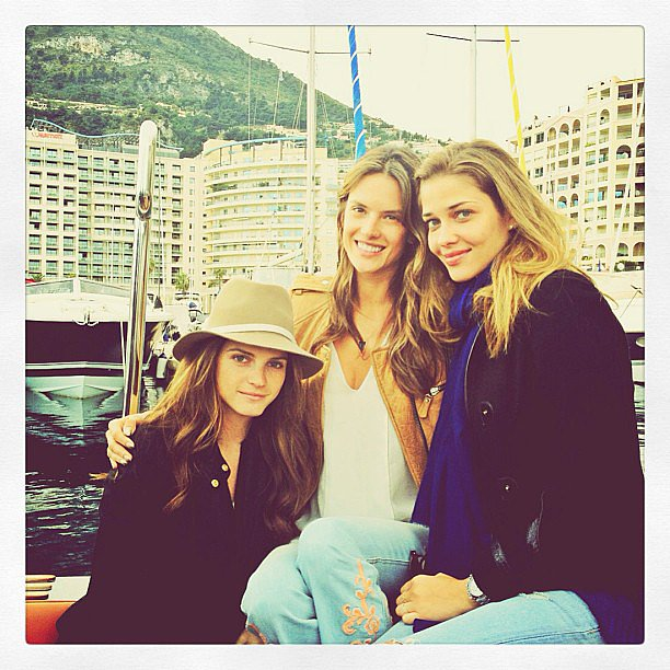 Alessandra Ambrosio had her best Brazilian girlfriends, Ana Beatriz Barros and Jeisa Chiminazzo, on board for her South of France travels. Source: Instagram user alessandraambrosio