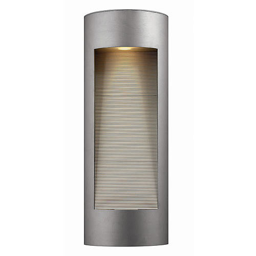 With its sleek titanium finish, the  Hinkley Lighting Luna Outdoor Wall Light ($479) comes with two light sources for maximum effect.