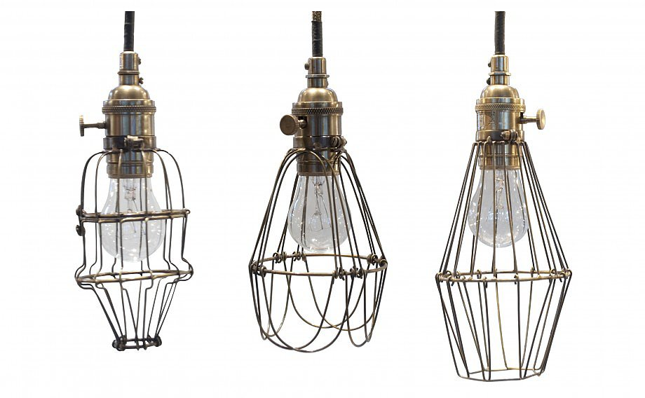 Standard cage lights get a vintage feel with these Workshop Cage Lights ($225) that will light up your yard.