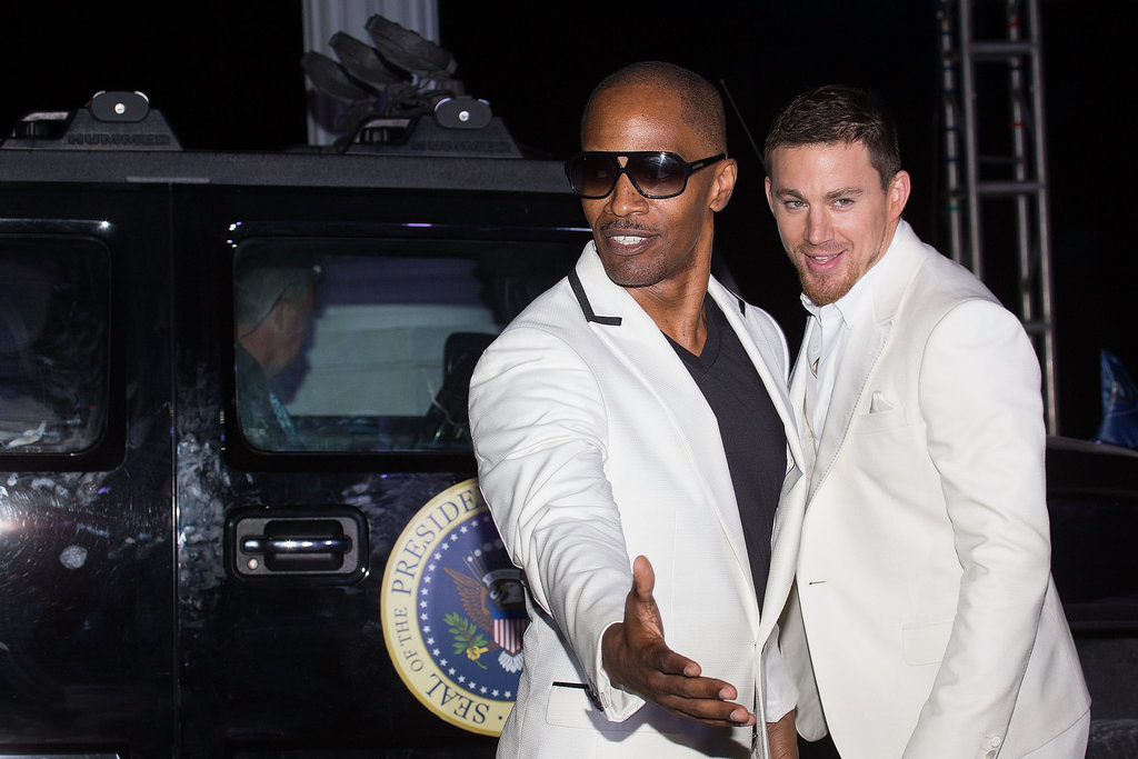 Channing Tatum and Jamie Foxx partied for White House Down in Cancun, Mexico, in April.