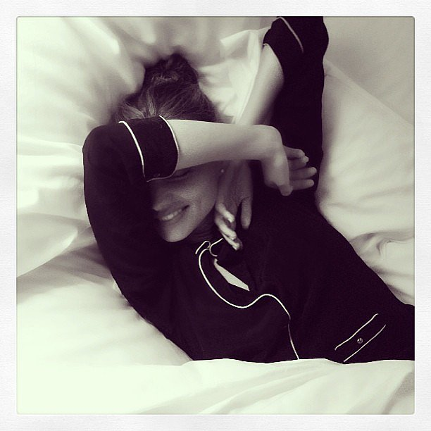 Miranda Kerr shared a sleepy snap while getting ready for bed. Source: Instagram user mirandakerr