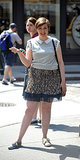 Lena Dunham struck a pose between shooting scenes for the new season of Girls in NYC on Tuesday.