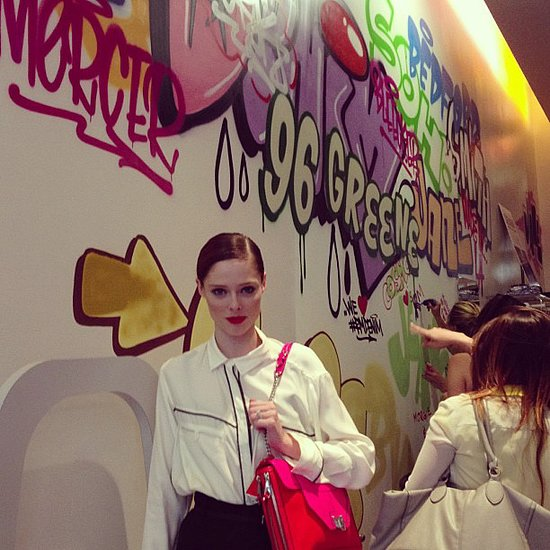 Coco Rocha stopped by Rebecca Minkoff's denim collection party in NYC. Source: Instagram user rebeccaminkoff