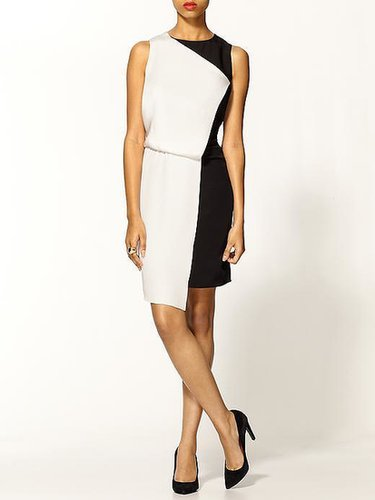 Tibi Silk Color Block Dress